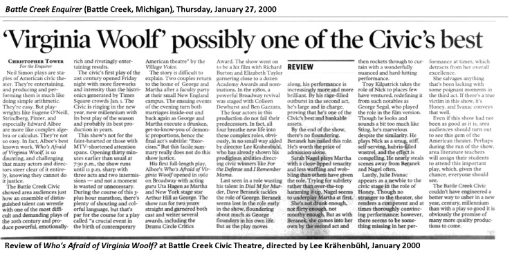 VIRGINIA WOOLF review 2000 01-27
